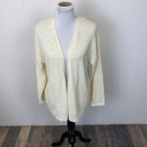 Cotton Emporium Ivory Open Cardigan Sweater